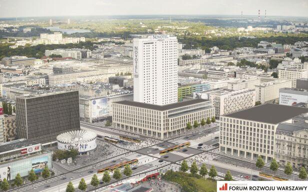 Tak mogłoby wyglądać skrzyżowanie  Forum Rozwoju Warszawy