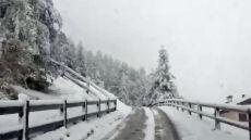 Włoskie Livigno białe od śniegu. Temperatura? -5 st. C