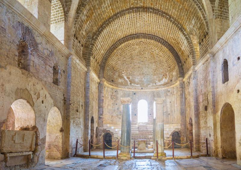Mozaiki w świątyni Świętego Mikołaja w tureckiej miejscowości Demre w Turcji (Shutterstock)