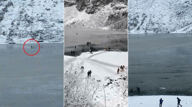 """Na łyżwach po cienkim lodzie na Morskim Oku. <br />""""To igranie z losem"""""""