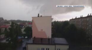 Burza w Jaśle (woj. podkarpacie)