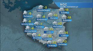 Prognoza pogody na noc 15/16.01